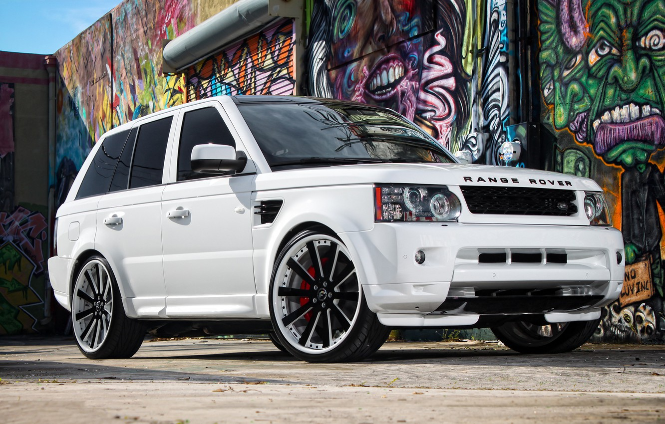 Photo wallpaper Range Rover, with, Sport, supercharged