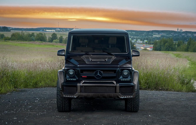 Photo wallpaper Mercedes, Brabus, Front, AMG, G63, W463, G800