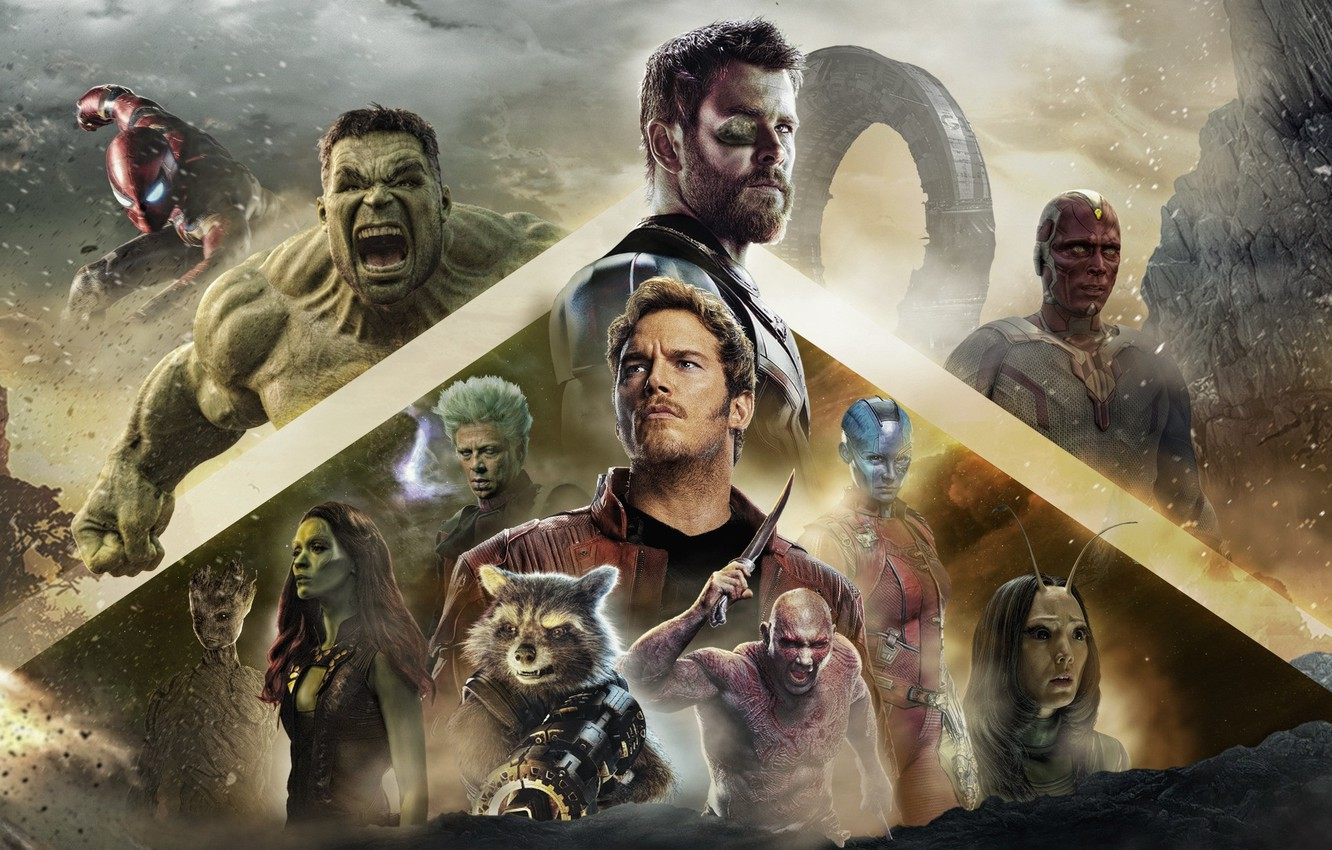 Photo wallpaper the film, characters, 2018, poster, Avengers: Infinity War