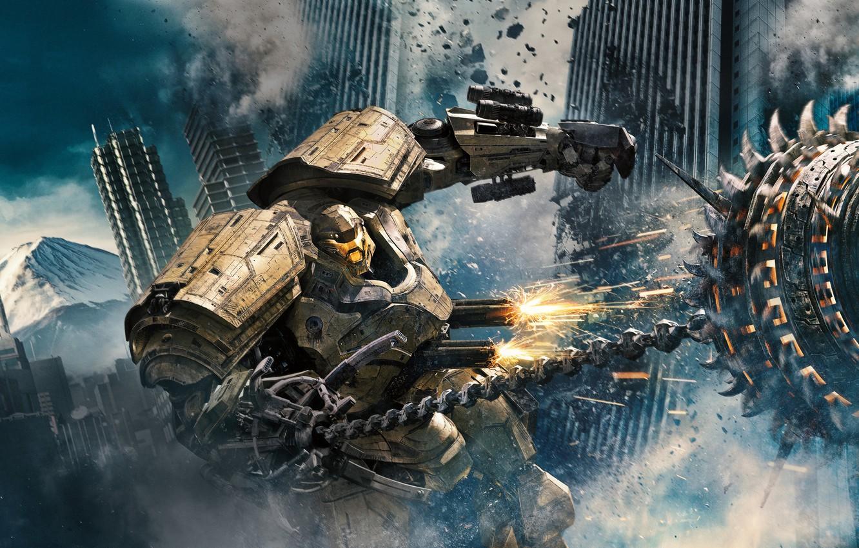 Photo wallpaper Action, Fantasy, Robots, Legendary Pictures, Machine, Big, year, 2018, Large, EXCLUSIVE, Pilot, Jake, Movie, Battle, …