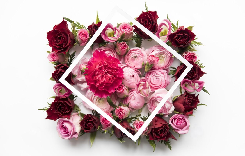 Wallpaper Flowers Roses Red Pink Pink Flowers Peonies Roses