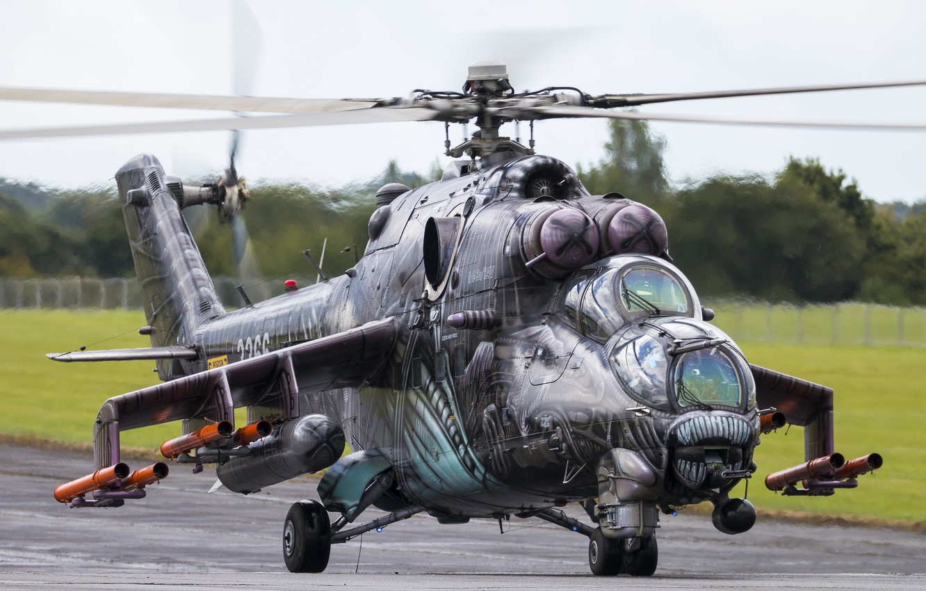 Photo wallpaper Helicopter, Mi-24, The Czech Republic, Hind, Czech air force, Mi-24V35, Czech Air Force