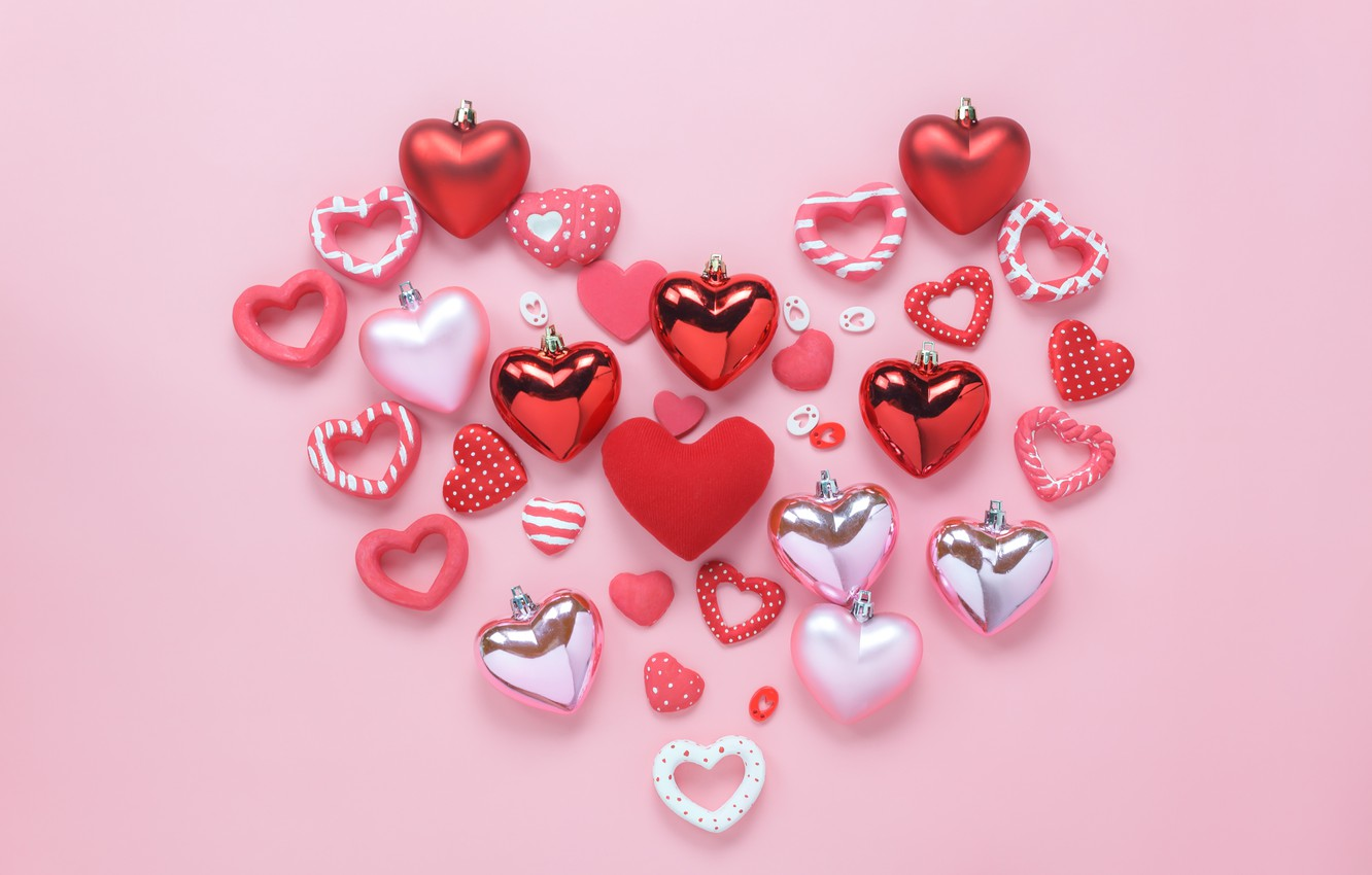 Wallpaper Love Background Pink Heart Hearts Red Love Pink