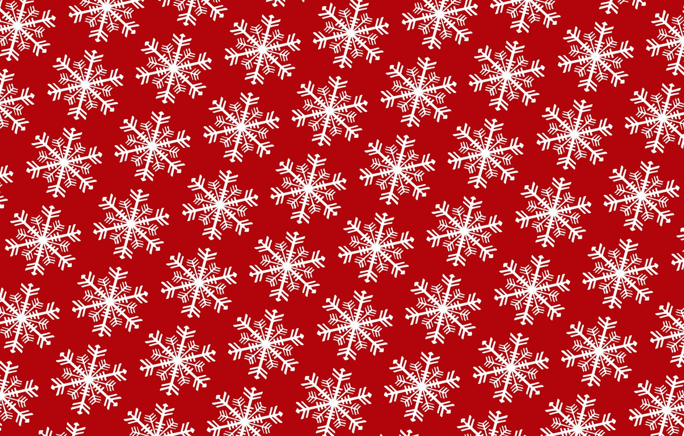 Photo wallpaper winter, snowflakes, holiday, pattern, New Year