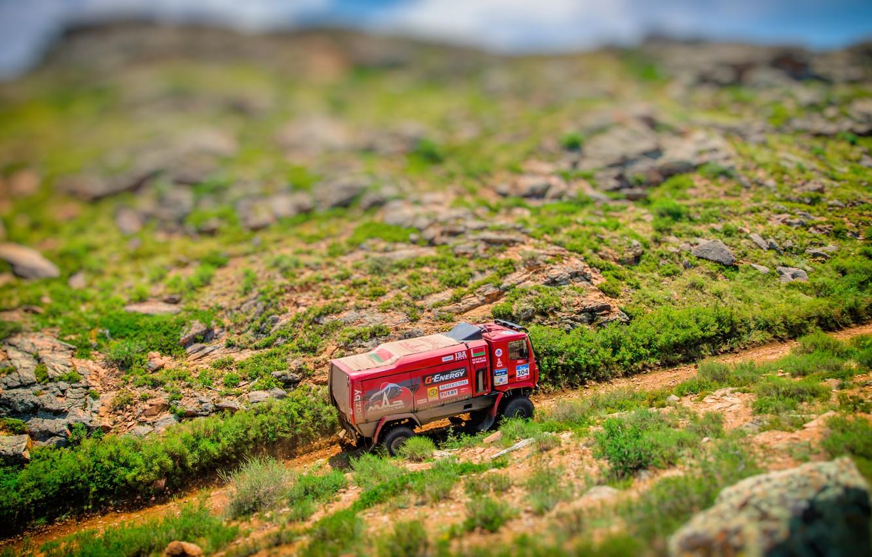 Photo wallpaper Red, Sport, Truck, Race, Rally, Rally, The roads, 304, MAZ, Silk road, Silk Way, MAZ, …