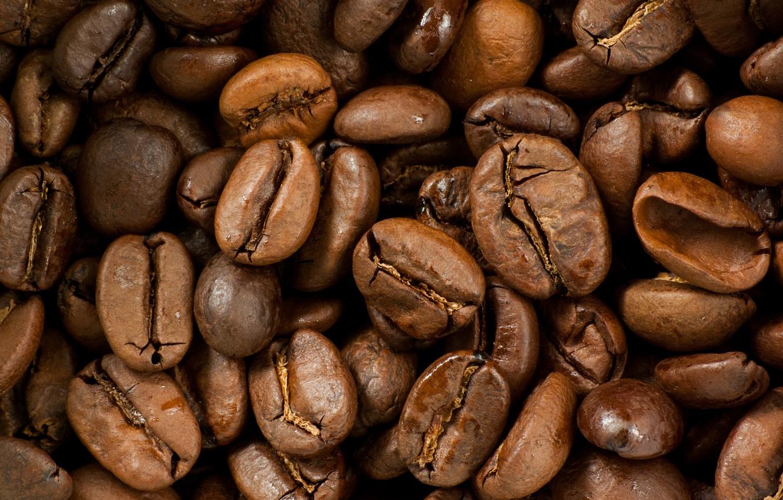 Photo wallpaper coffee, grain, a lot