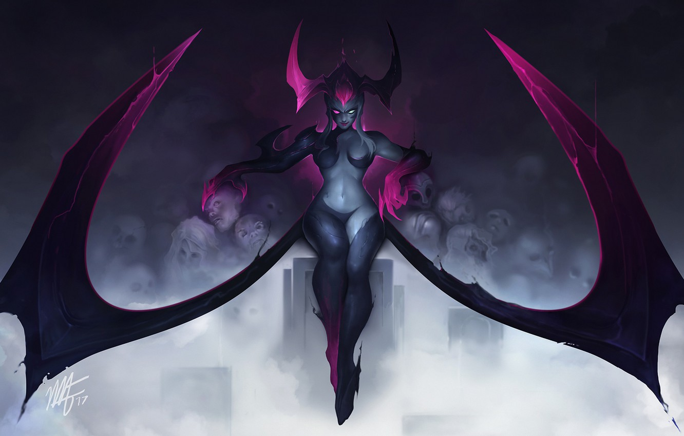 Photo wallpaper chest, the demon, art, League of Legends, evelynn, Riot Games, moba, Agony's Embrace