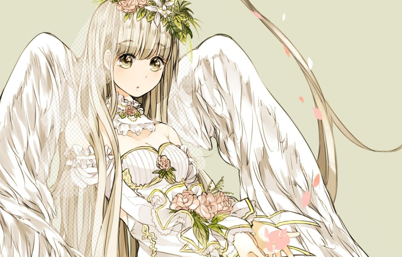Photo wallpaper look, girl, angel