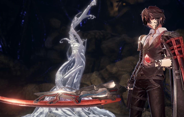 Wallpaper Red Black Vampire Sword Protagonist Code