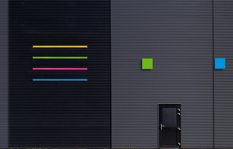 Photo wallpaper strips, design, the city, the building, texture, door