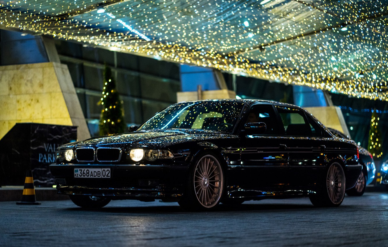 Wallpaper Bmw City Light Night Alpina E38 Kazakhstan Almaty 740li Images For Desktop Section Bmw Download