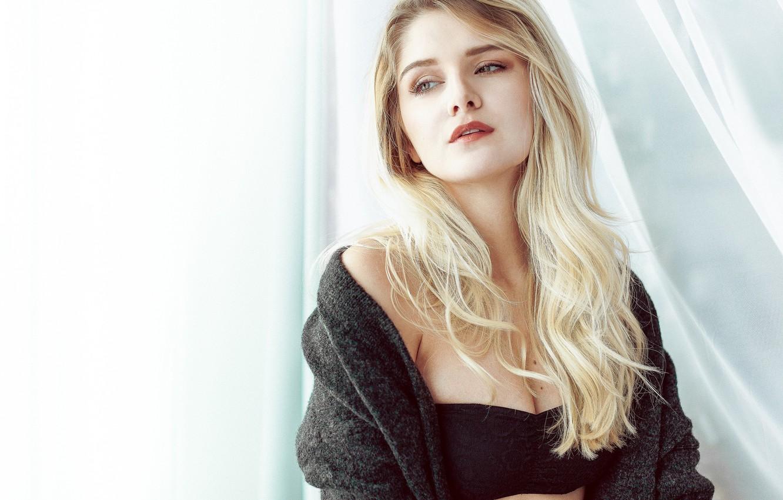 Photo wallpaper girl, window, blonde