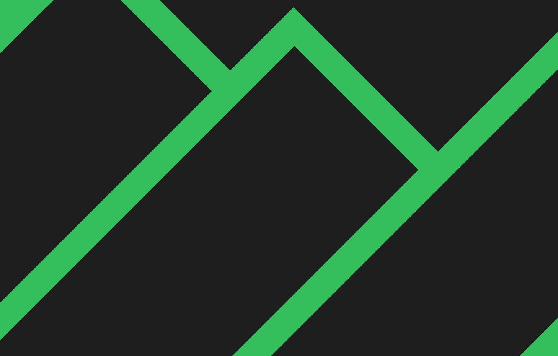 Photo wallpaper green, flat, black, minimalism, Line, figure, rectangles, Manjaro Linux, Manjaro