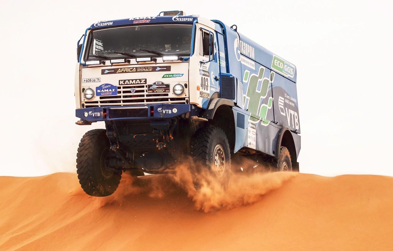 Photo wallpaper The sky, Sand, Nature, Sport, Speed, Truck, Race, Master, Africa, Beauty, Russia, Beast, Kamaz, Rally, …
