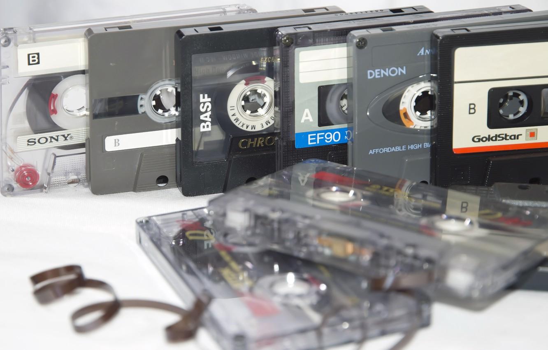 Photo wallpaper macro, style, music, cassette