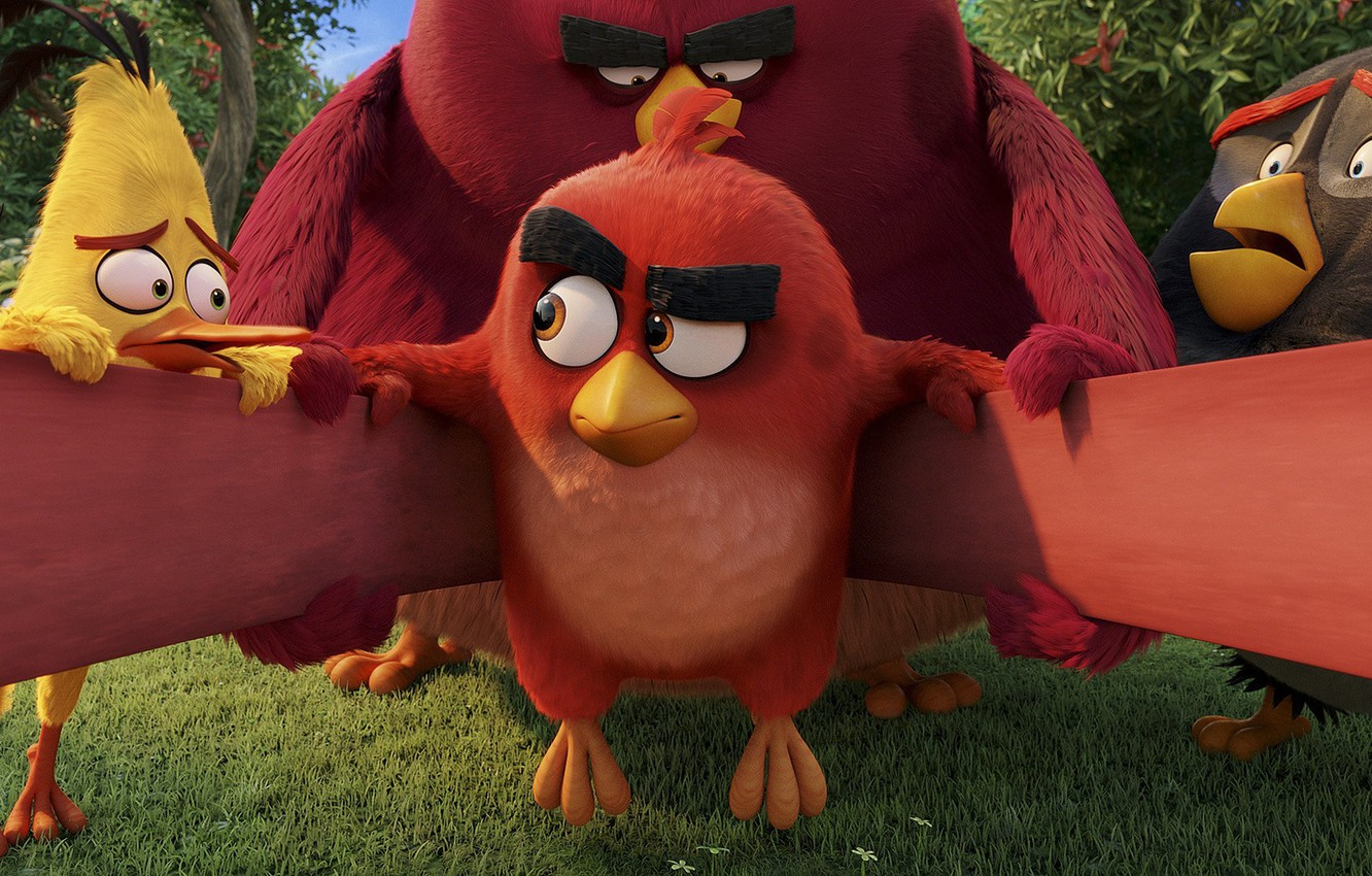 Wallpaper Red, game, birds, film, animated, angry, Angry