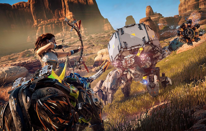 Wallpaper Girl Rock Game Robot Woman Bull Warrior