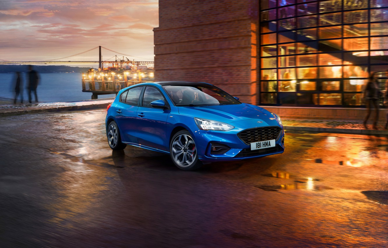 Photo wallpaper Ford, Focus, 2018, ST Line