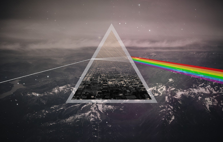 Photo wallpaper Music, Background, Triangle, Pink Floyd, Rock, Dark side of the moon, Pink Floyd, The Dark …