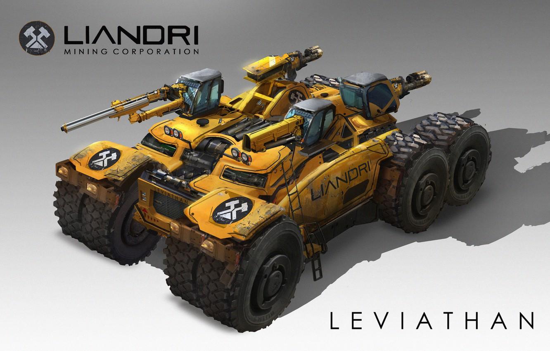 Photo wallpaper weapons, transport, technique, Leviathan, Unreal Tournament