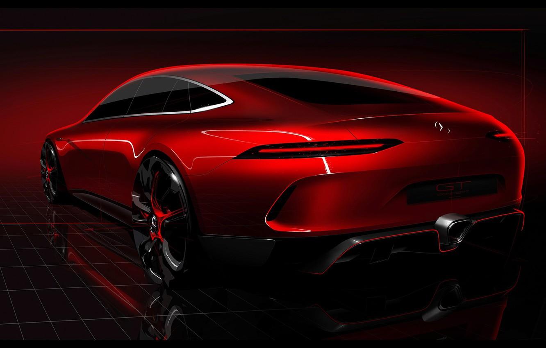 Photo wallpaper car, concept, Mercedes, red, Geneva, Mercedes Benz AMG GT, Geneva Mercedes Benz AMG GT Concept