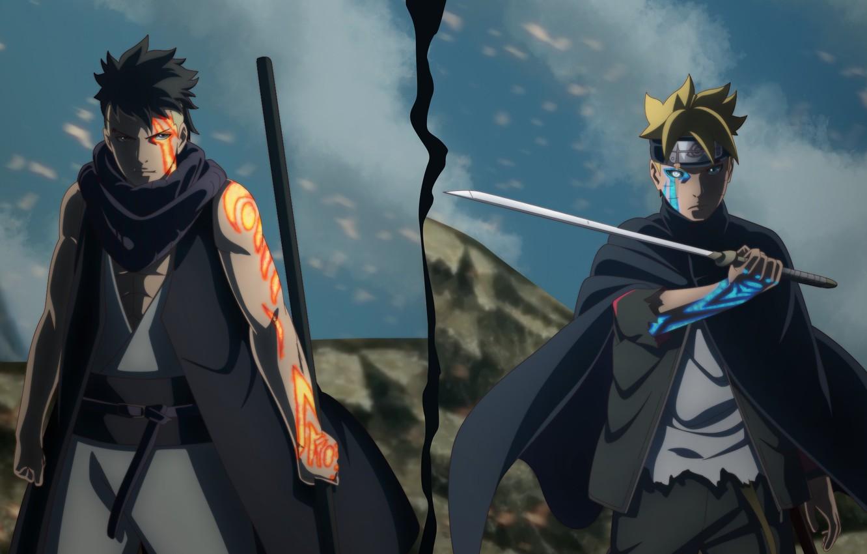 Photo wallpaper sword, Naruto, seal, anime, ninja, shinobi, doujutsu, hitaiate, nukenin, Konoha, to narutorenegado, Uzumaki Naruto, Boruto: …