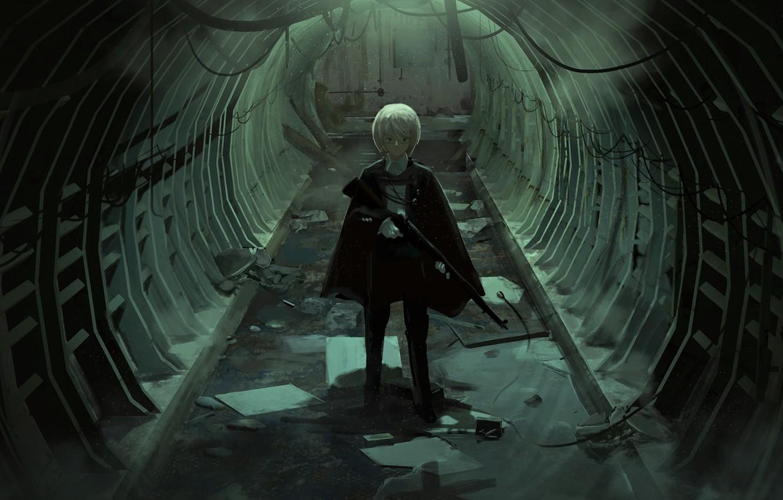 Photo wallpaper weapons, anime, art, the tunnel, guy, faiz azhar