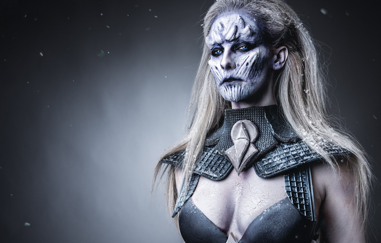 Photo wallpaper Game of Thrones, make up, female white walker
