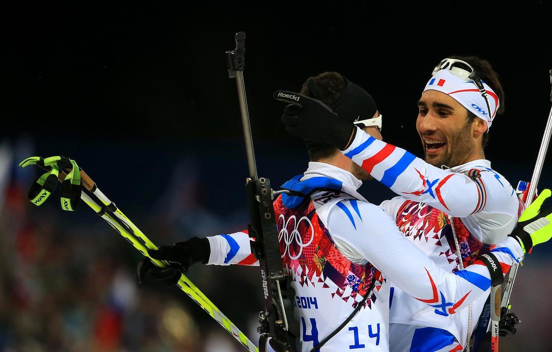 Photo wallpaper rifle, biathlon, Martin Fourcade, Jean-Guillaume Beatrix