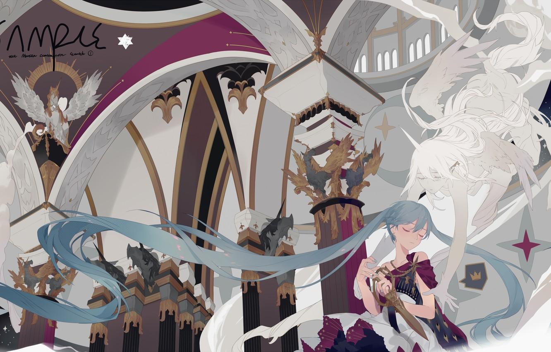 Photo wallpaper Vocaloid, Fantasy, Hatsune Miku
