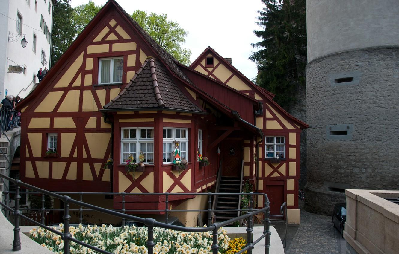 Photo wallpaper Germany, House, House, Germany, Meersburg, Mersburg