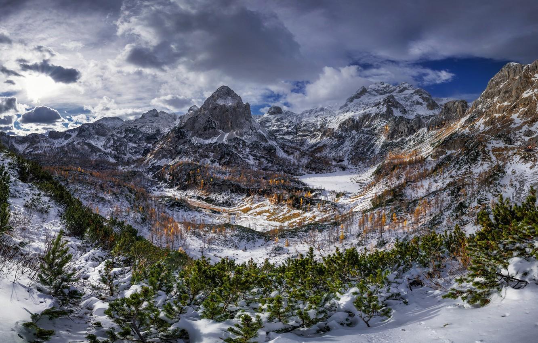 Photo wallpaper mountains, Alps, Triglav