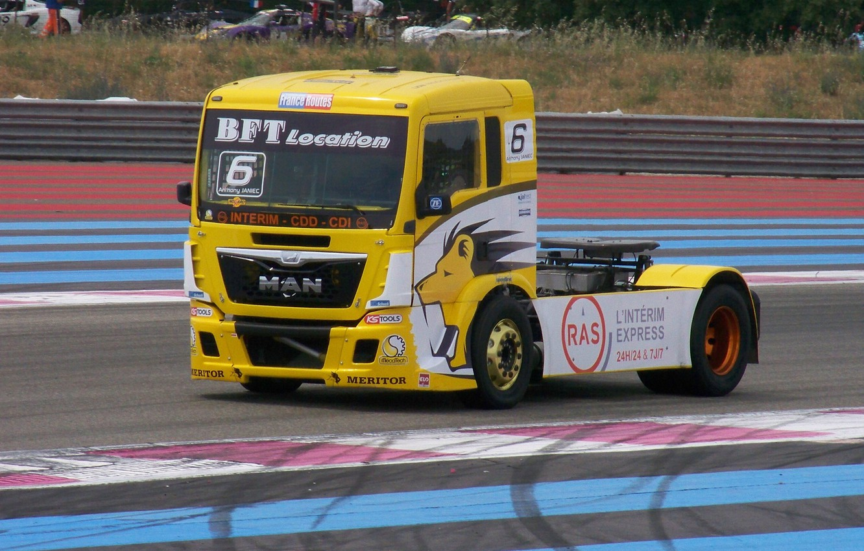Photo wallpaper truck, racing, Man