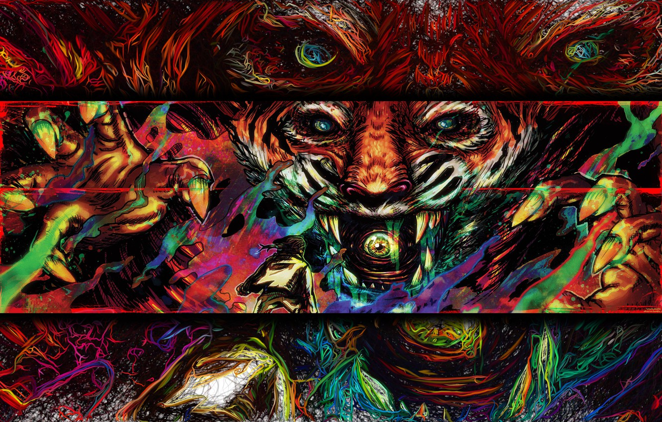 Photo wallpaper Figure, The game, Tiger, Art, Miami, Tony, Hotline Miami, Tony, Hotline