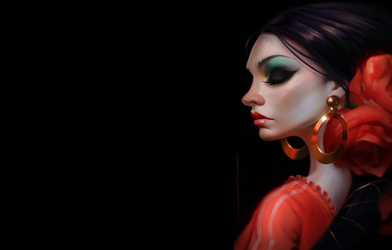 Photo wallpaper girl, art, dancer, Rocio Flamenco, Daniel Orive