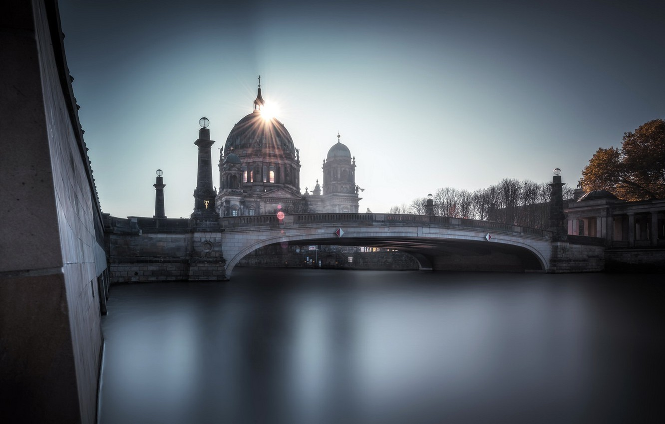 Photo wallpaper Sunrise, Berlin, The Berliner Dom
