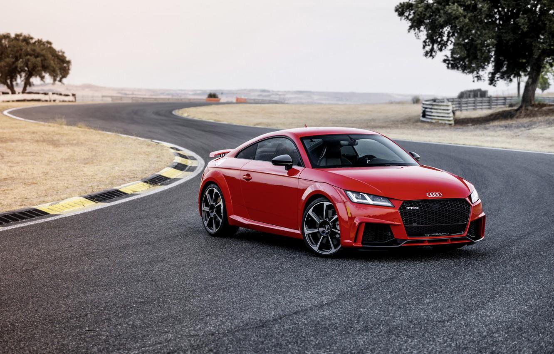 Photo wallpaper Audi, German, Red, 2018, Track, RS, TT