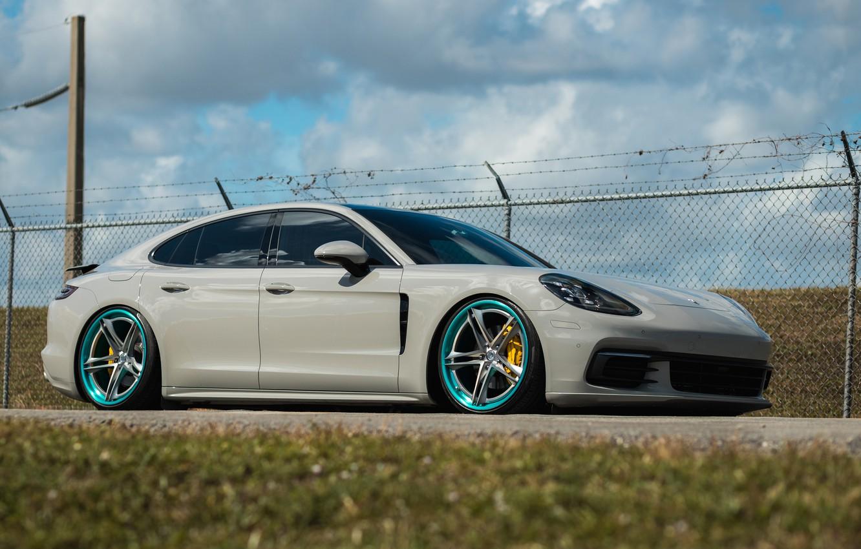 Photo wallpaper Porsche, Panamera, Titanium, HRE, Brushed, S207
