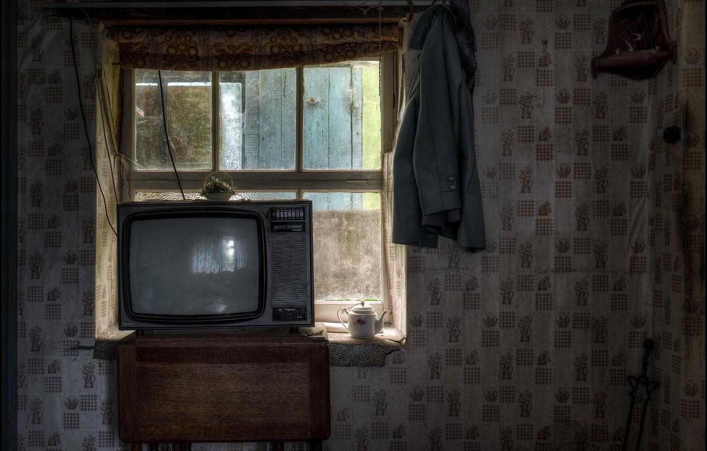 Photo wallpaper house, TV, window