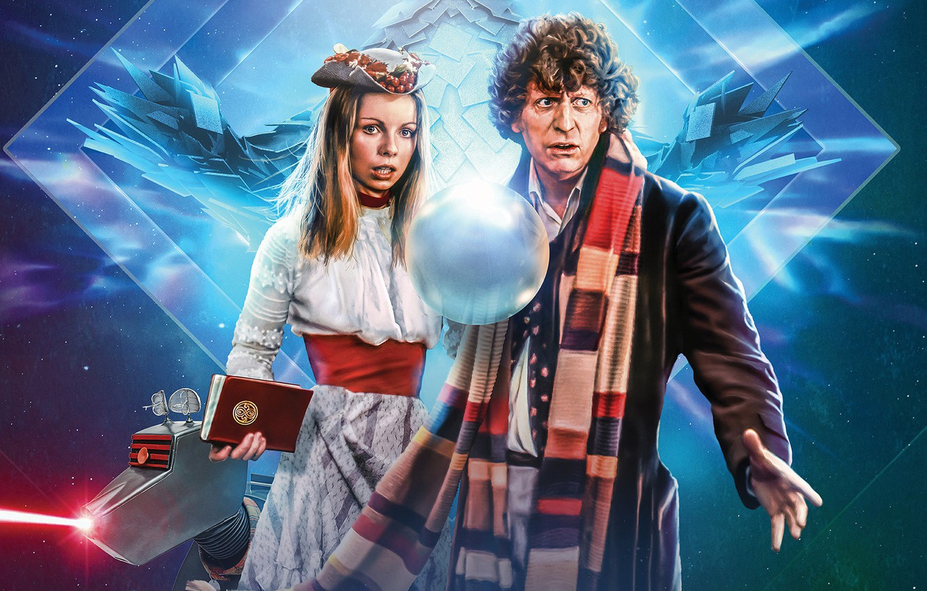 Photo wallpaper ball, scarf, Doctor Who, Doctor Who, Fourth Doctor, Romana, The Fourth Doctor