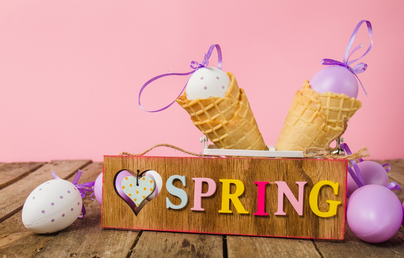 Photo wallpaper eggs, spring, Easter, spring, Easter, eggs, decoration, Happy
