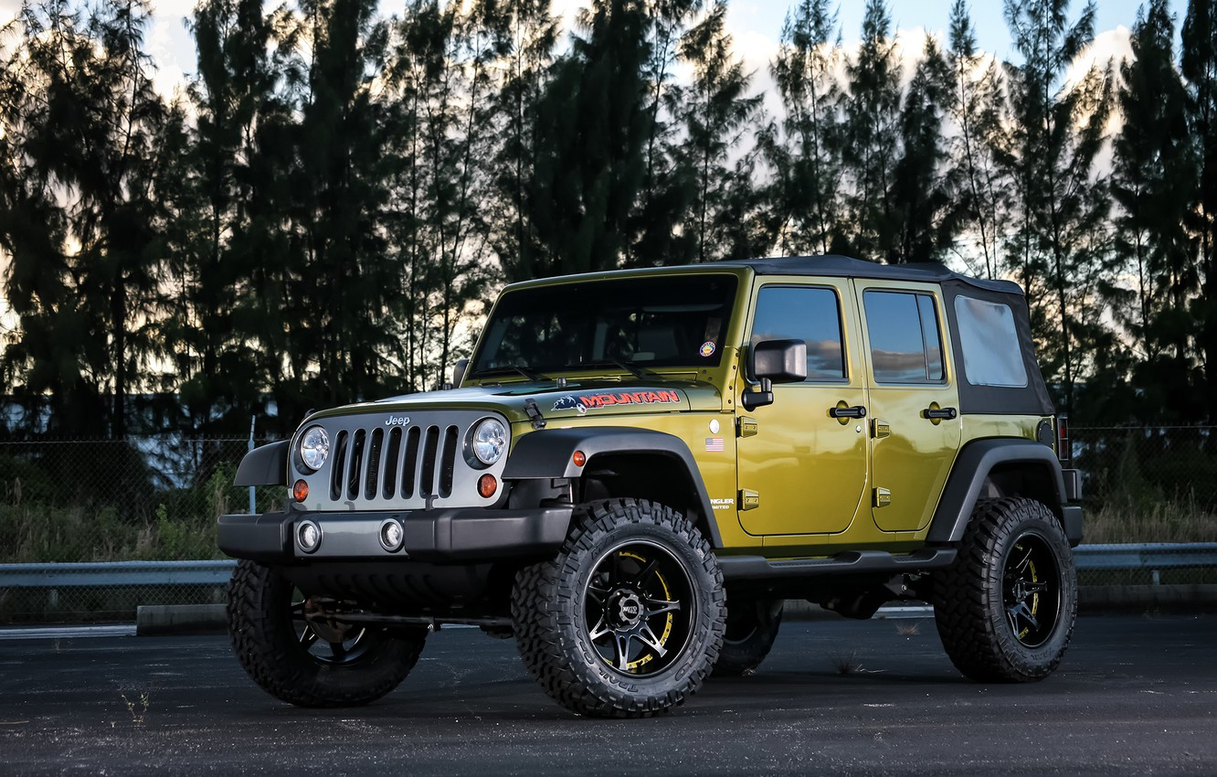 Photo wallpaper Mountain, Wrangler, Jeep, Edition