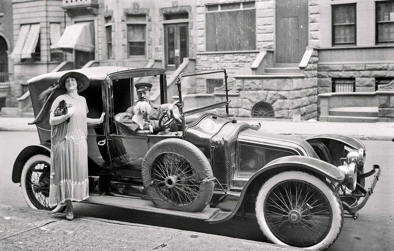 Photo wallpaper retro, Ford, USA, car, 1916-the year
