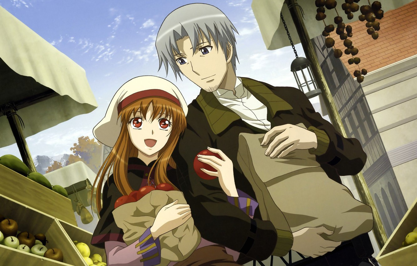 Photo wallpaper Anime, Anime, Apples, Horo, Red, Spice and wolf, Holo, Redhead, Spice and Wolf, Holo, Redhead, ...