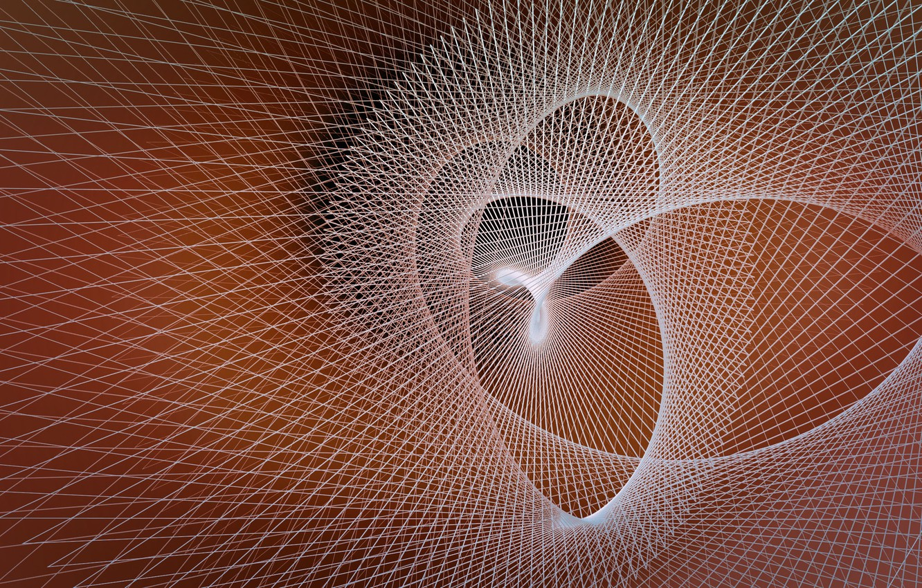 Photo wallpaper line, background, fractal, geometry