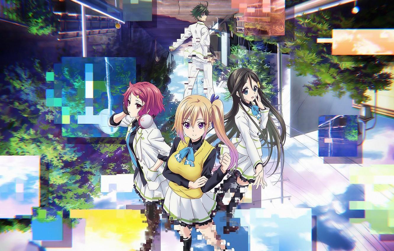 Photo wallpaper anime, japanese, bishojo, seifuku, Musaigen no Phantom World, Mai Kawakami, Myriad Colors Phantom World