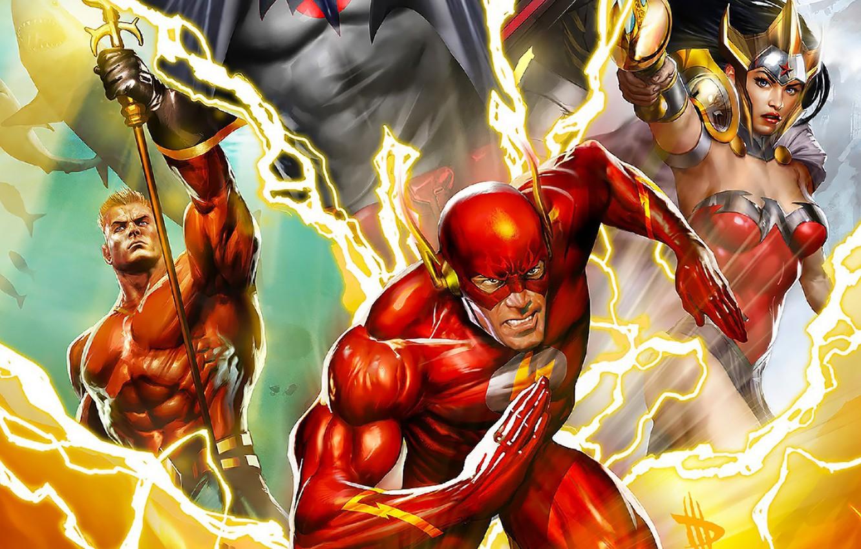 Wallpaper Hero Aquaman Yuusha Justice League The Flash