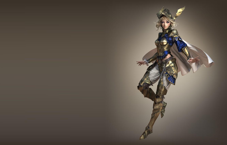 Photo wallpaper armor, warrior, art, fantasy, warrior, Valkyrie, 3d, Nick Gaul, Sapphire Valkyrie