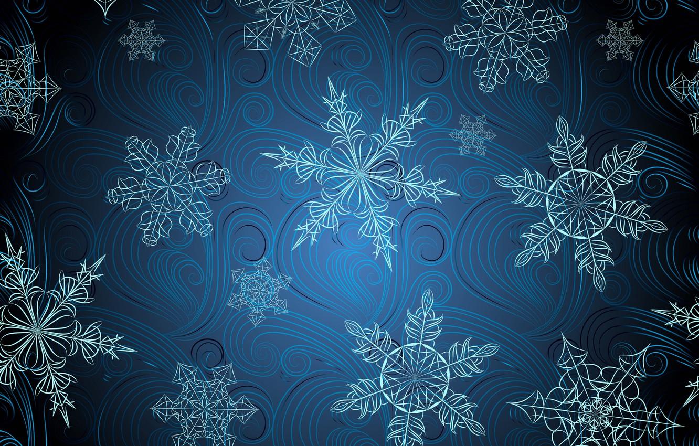 Photo wallpaper snowflakes, background, pattern, texture