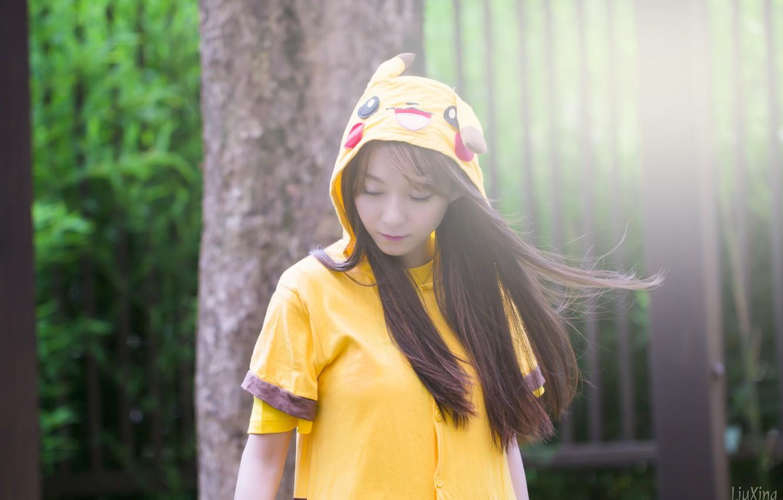 Photo wallpaper girl, woman, asian